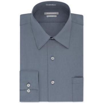 Van Heusen Men's Athletic Fit Poplin Dress Shirt