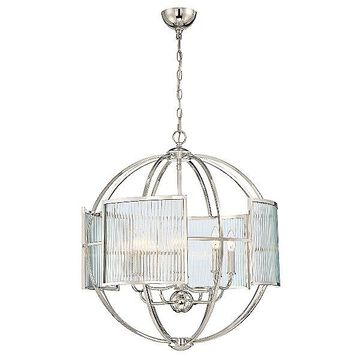 Eurofase Manilow Orb Chandelier - Color: Silver - Size: Polished Nickel - 33848-013