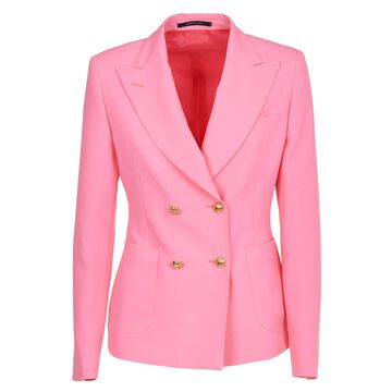 Tagliatore Pink Double-breasted Jacket