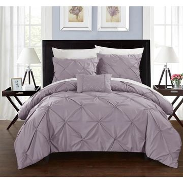 Chic Home 8-Piece Whitley Lavender Duvet and Sheet Set (King)