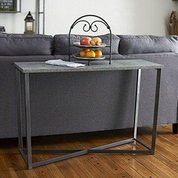 Household Essentials Faux Concrete Slate Console Table