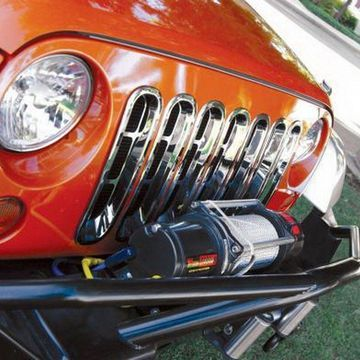 Rampage 87511 Grille Inserts; Chrome;