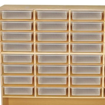 Wood Designs 991294ZCT 32-Glide Tray Storage Mobile Unit with 32 Translucent Trays