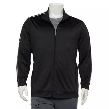 Big & Tall Tek Gear Tricot Full-Zip Jacket, Men's, Size: XL Tall, Black