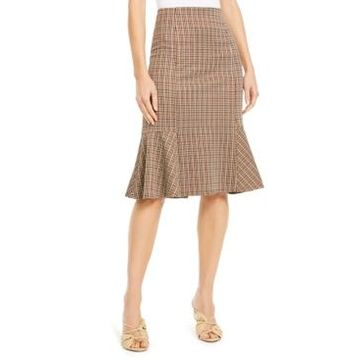 Ny Collection Petite Plaid Peplum Skirt