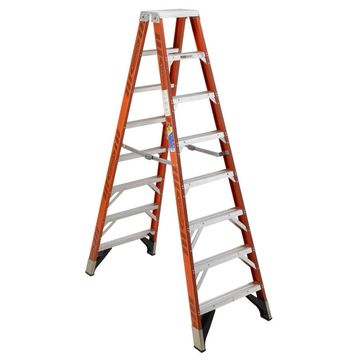 Werner T7400 10-ft Fiberglass Type 1AA - 375 lbs. Capacity Twin Step Ladder in Orange