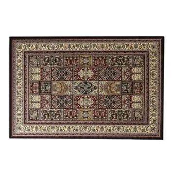 Linon Persian Treasures Bakhtiari Oriental Polypropylene Square Area Rug (5' x 7'6