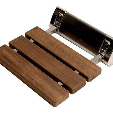 ALFI brand Teak Wood Teak Wall Mount Shower Chair (Ada Compliant) | ABS14-BN