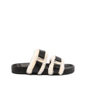 Dalley shearling-trim sandals