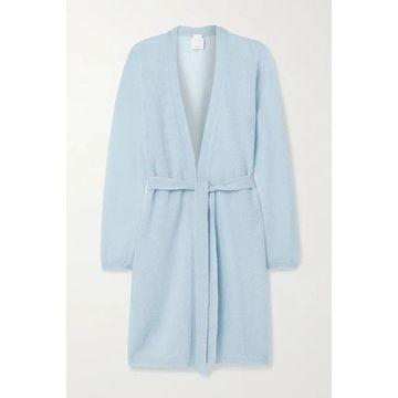 Max Mara - Leisure Calante Belted Mohair-blend Cardigan - Light blue