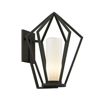 Troy Lighting Whitley Heights 19-in H Textured Black Medium Base (E-26) Outdoor Wall Light | B6342
