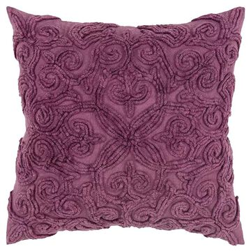 Rizzy Home Stella Down Filled Throw Pillow, Blue, 20X20