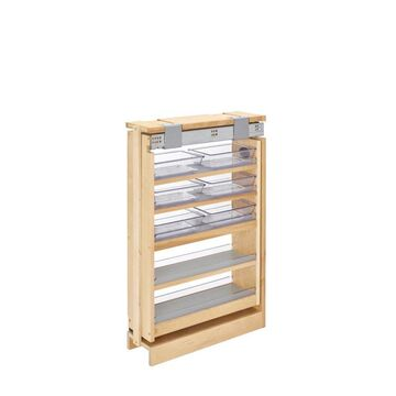 Rev-A-Shelf 6-in W x 30-in H 5-Tier Pull Out Wood Soft Close Baskets & Organizers