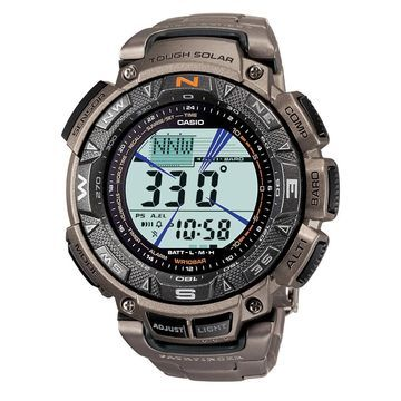 Casio Men's CR Pathfinder Triple Sensor Multi-Function Titanium Watch