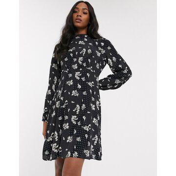 Y.A.S high neck mini dress in mix print-Multi