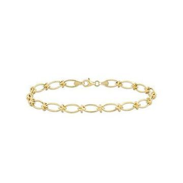 10kt Yellow Gold Oval Link Chain Bracelet