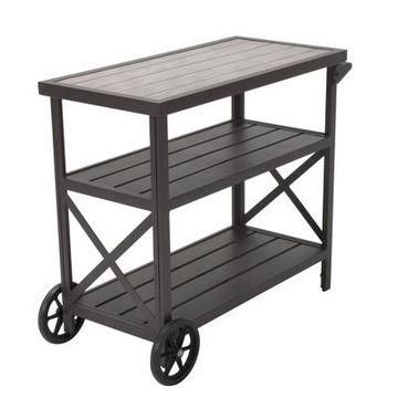 Outdoor Serving Cart - Brown - Cosco