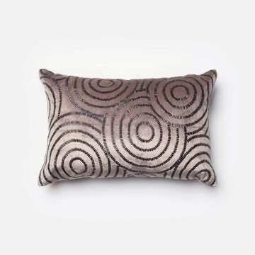 DSETP0110CCBLPIL5 13 x 21 in. Contemporary Down Insert Decorative Pillow - Charcoal & Black