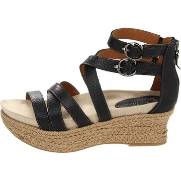 Earth Womens Khaya Kella Leather Open Toe Casual Platform Sandals