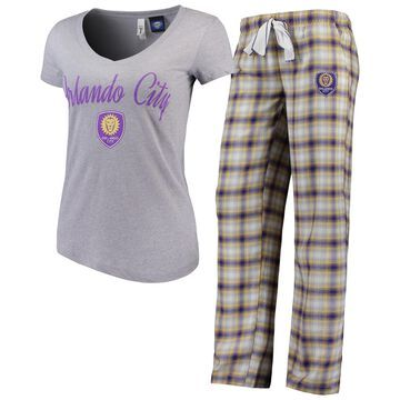 Women's Concepts Sport Heathered Gray/Gold Orlando City SC Forge Flannel Set