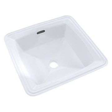 TOTO Connelly Square Undermount Bathroom Sink w/ CeFiONtect, Cotton Wh