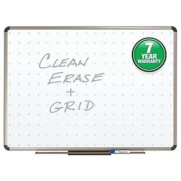 Quartet Prestige Total Erase Dry-Erase Whiteboard, Aluminum (Silver) Frame, 4' x 3' (TE564T)