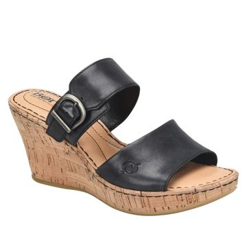 Born Sea Leather Platform Slide Sandal