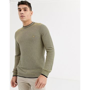 Farah Talbot recycled poly stripe sweater in yellow