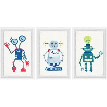 Marmont Hill Cool Robots Triptych