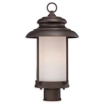 Filament Design Mahogany Post-Mount Outdoor Light in Bronze