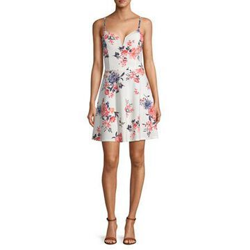 Almost Famous-Juniors Sleeveless Floral Fit & Flare Dress