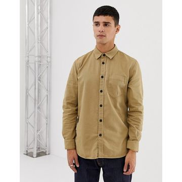 Nudie Jeans Co Henry one pocket shirt in sand
