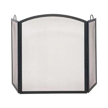 Uniflame S-1506 3 Fold Wrought Iron Arch Top Medium Screen, Black