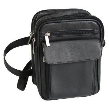 Royce Leather Colombian Vaquetta Cowhide Men's Travel Bag (Black)