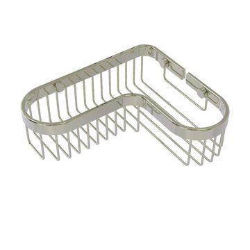 Allied Brass Corner Toiletry Shower Basket in Polished Nickel | BSK-250LA-PNI