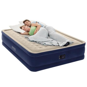 Intex Dura-Beam Series Elevated Deluxe Airbed with Built-In Electric Pump Bed...