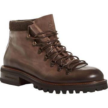 Bruno Magli Mens Alpino Hiking Boots Burnished Leather - Dark Brown Leather
