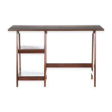 Southern Enterprises Langston Desk in Espresso
