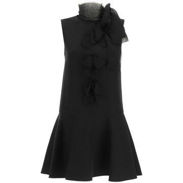 Valentino crepe couture mini dress