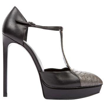Saint Laurent Black Python Heels