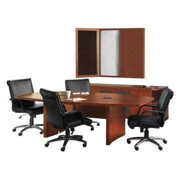 Mayline Aberdeen Typical AT39 Boat Conference Table Suite in Cherry