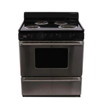 Premier 30-in 4 Elements 3.9-cu ft Freestanding Electric Range (White) | EFK600BP