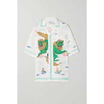 Casablanca - Printed Silk Shirt - White