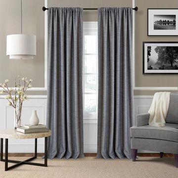 Elrene Pennington Rod Pocket Textured Solid Curtain Panel Pair