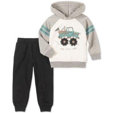 Kids Headquarters Little Boys 2-Pc. Cool Little Dude Truck Hoodie & Fleece Sweatpants Set