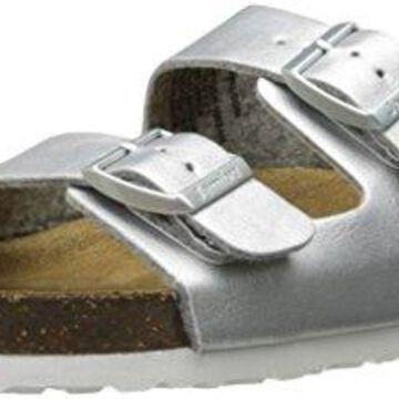 Jambu Women's Woodstock - Vegan Slide Sandal, Silver, 8 M US