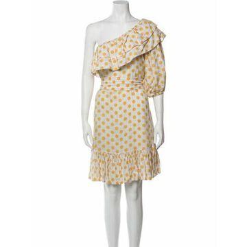 Linen Knee-Length Dress Yellow