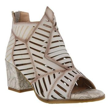 L'Artiste by Spring Step Women's Angular Shootie Bone Leather