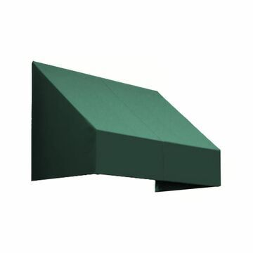 Awntech New Yorker 52.5-in Wide x 24-in Projection Forest Solid Slope Window/Door Fixed Awning in Green