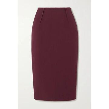 Altuzarra - Lester Crepe Midi Skirt - Burgundy